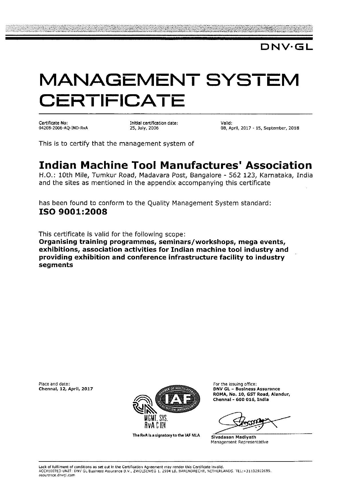 Certifications Imtma